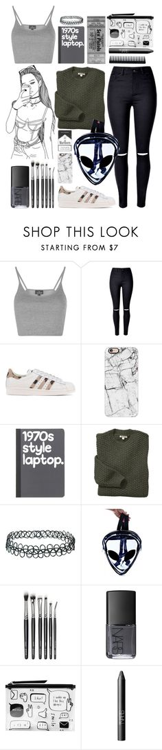 """Silence is the most powerful scream."" by master23yzaguirre ❤ liked on Polyvore featuring Topshop, WithChic, adidas Originals, Casetify, Barbour, NARS Cosmetics, Monki and GHD"