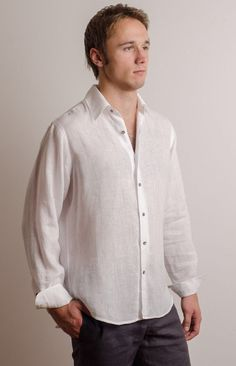 LINEN SHIRT Shirt only! 100% linen All our items are handmade and custom made. We need your body measurements - full height, neck, chest, shoulders and sleeve length. Here you can find how to measure: http://propercloth.com/reference/dress-shirt-body-measurements/ Your order will be made within approx. 1 week from payment and body measurements received. Thank you for your patience! We also accept Rush Orders, there might be an extra charge for it – please conta...