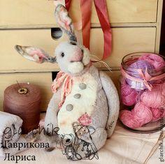 кролик девочка ЛиИла - бледно-сиреневый,кролик,заяц,авторская игрушка @glarchik