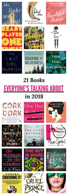 The best books for young adult women to read in 2018. #books #bookworm #bookclub