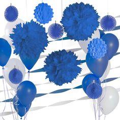Dark Blue and White - Decor Kit for Baby Showers | BabyShowerStuff.com | #BabyShower #PartyDecorations