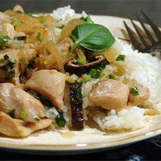 Thai Chicken with Basil Stir Fry | Simply delicious! Make it as spicy or as mild as you like.