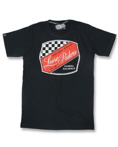 Loose Riders Herren BADGE T-Shirt.Tattoo,Biker,Rockabilly,Oldschool,Custom Style