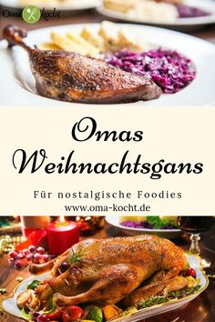 Recipe for grandma& best Christmas goose- Rezept für Omas beste Weihnachtsgans A goose is a must for Christmas. With my recipe you have your goose ready in no time. With my filling, this roast goose is a real feast for the palate. Healthy Breakfast Recipes, Healthy Foods To Eat, Healthy Eating, Healthy Recipes, Clean Eating, Copycat Recipes, My Recipes, Chicken Recipes, Burger Recipes