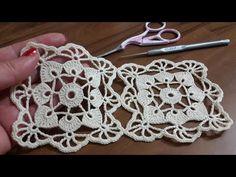 Free Knitting Pattern for Santa Claus Gift Bag - Kivoyi Crochet Crochet Motif Patterns, Crochet Blocks, Crochet Squares, Crochet Designs, Crochet Stitches, Knitting Patterns, Crochet Tablecloth, Crochet Doilies, Crochet Flowers