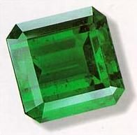 Emerald symbolizes green.