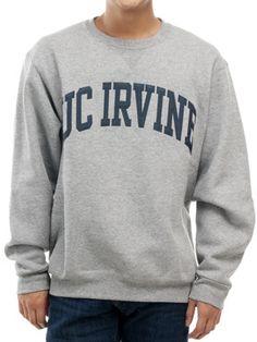 The Hill - UC Irvine Navy Vertical Arch Crew Neck Sweatshirt - Oxford