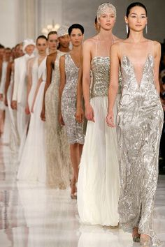 Ralph Lauren - sparkles - love the cocktail dress 3rd from front.