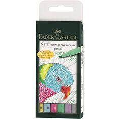 """Tuschestift PITT artist pen B 6er Etui """"Pastel"""" Ca. 16,00€"""