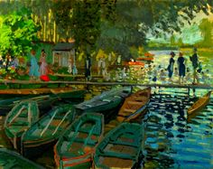 Claude Monet – Bathers at La Grenouillere – 1869 – The National Gallery. London