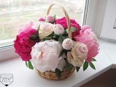 Cómo hacer arreglos florales con papel crepe para el día de la madre ~ Mimundomanual