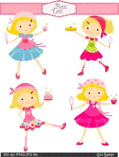 girl clip art cooking clip art Digital clip art by petittatti, $4.80 for cooking…