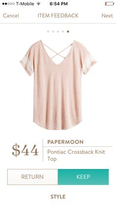Papermoon Pontiac Crossback Knit Top June 2016 @stitchfix  #stitchfix #fashion  https://www.stitchfix.com/referral/8170758