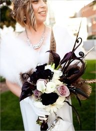 art deco lily arrangement - this style as a centerpiece would be stunning