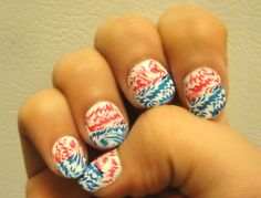 4th of July nails! #nail design nail design