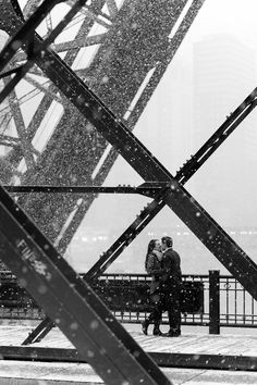 Engagement in snowy Chicago