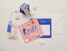 Birth announcement by Mino Paper Sweets
