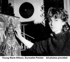 Young Marie Wilson, Surrealist Painter   All photos provided