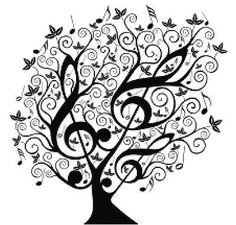 Zene-Számít-Cross-Stitch-Pattern-Design-Fekete-Fehér-Magas-kulcs-fa