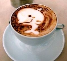 This Ocean-Themed Latte Art Dolphin