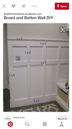 board and batten with board sizes - Interior Design Fans Decor, Home Diy, Board And Batten, Diy Home Improvement, Diy Wall, Home Projects, Home Decor, Wainscoting, Batten