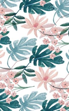 Resultado de imagen de tropical green and pink patterns