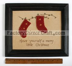 "primitive crafts | Primitive ""Have yourself a merry little Christmas"" Sampler - Wall ..."