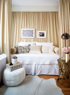 How to decorate your studio apartment to create the illusion of a separate bedroom