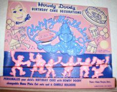 VINTAGE HOWDY DOODY CAKE DECORATIONS