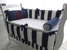 Kit 10 Peças marinheiro 02 Baby Shawer, Baby Room, Toddler Bed, Bench, Storage, Furniture, Home Decor, Sailor Theme, Cushion Headboard