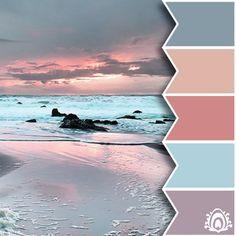 PASTEL SUNRISE - color palette  Pastel Feather Studio
