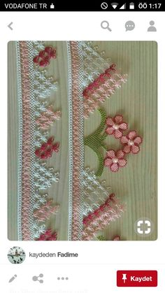 This Pin was discovered by HUZ Hand Embroidery, Embroidery Designs, Crochet Hammock, Types Of Pencils, Fabric Scissors, Point Lace, Sewing Material, Needle Lace, Lace Making