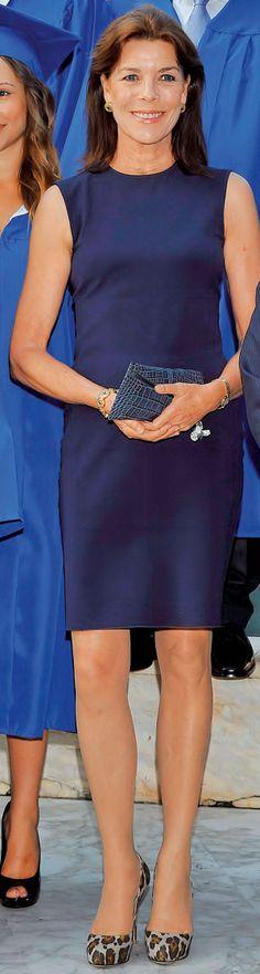 Princess Caroline of Hanover...with the graduates. Interesting shoes!