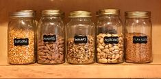 Use jars for dry goods, they will keep foods fresh and your pantry more tidy.