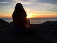 Watching the sunset #sunset #beach #travel #dorset