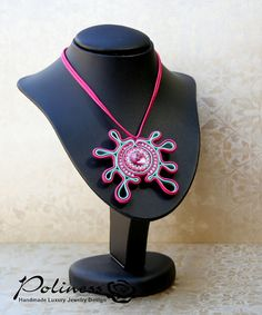 Jewellery  Pendants  Necklaces  Soutache by PolinessJewelry
