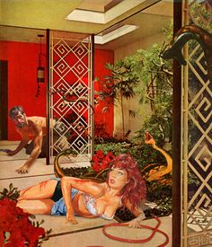 Nadine Boughton - true adventures in better homes #pulp #retro #collage