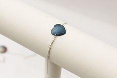 Delikatna bransoletka srebrna z tytanowym sercem w Arpelc Blue na DaWanda.com Unique Gifts For Her, Delicate, Detail, Bracelets, Jewelry, Thanks, Jewels, Schmuck, Jewerly