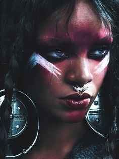 Bad Gal Rihanna: The World's Wildest Style Icon - Rihanna Tribal Makeup