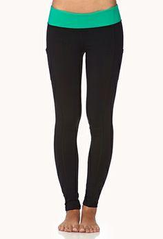 Side-Pocket Skinny Workout Leggings | FOREVER21 - 2000051667
