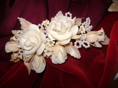 Resultado de imagen para flor velo de novia en porcelana fría