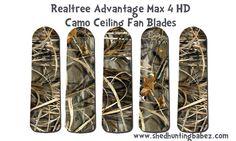 Max+4+HD+Realtree+Advantage+Camo+Ceiling+Fan+Blades www.funkyletterboutique.com | kids décor | man cave