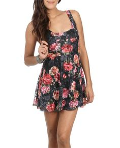 Floral Lace Swing Dress (Lipstick). Wet Seal. $29.50