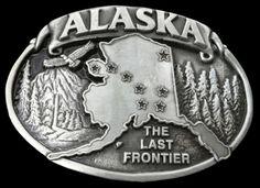 Alaska Last Frontier Great Land United States Usa Belt Buckle Belts Buckles #Century #Casual #alaska #thelastfrontier #beltbuckle  #buckles