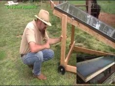 DIY Solar water heater for aquaponics - YouTube I liked the neatness of this solar heater compared with others that were just hoses painted black, tacked to a board and left out as a big jumble in the sun.  The Glass cover has got to help increase the heat to boot.  Nice job!
