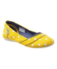 Love this Yellow Polka Dot Cortona Flat by KEEN on #zulily! #zulilyfinds