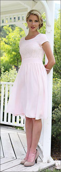 ✿⊱╮Pretty Pink Soft Casual Chiffon And Lace. Soft & Feminine ❤️