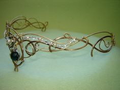 Look at THIS! The wirework is exquisite! This is truly a unique find, makes me wish i had a reason to wear it! :-) Where was this piece when I got married 10 years ago? :)  Circlets, Crowns, Tiaras and Dresses for your Medieval, Celtic or Elven Wedding!