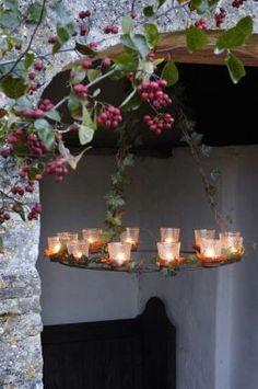 Tea-light chandelier