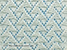 Lace Stitches for Spring 2016 - Pattern 1/10 - Knitting Unlimited
